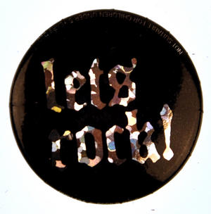 Let's Rock Badge - Holographic