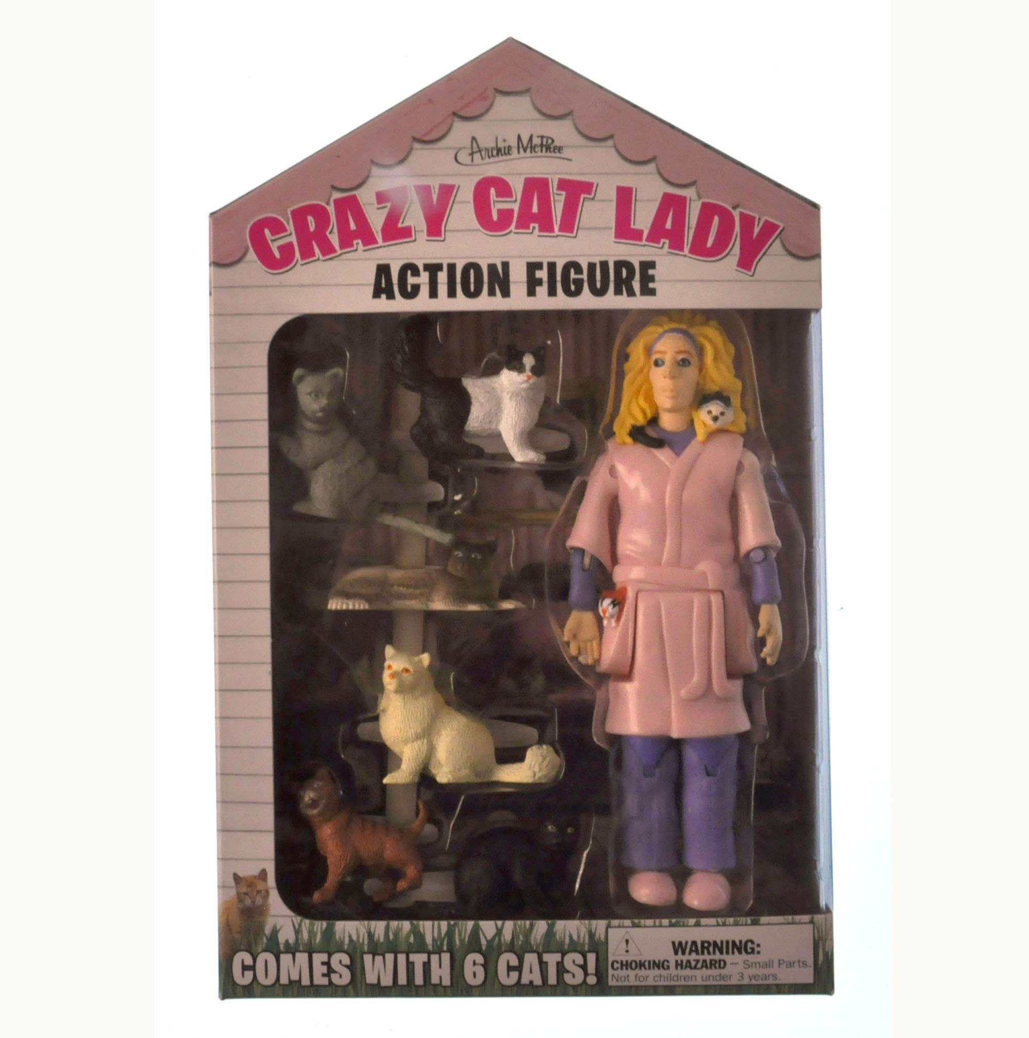 Crazy Cat Lady and Her 6 Cats Action Figure | eBay