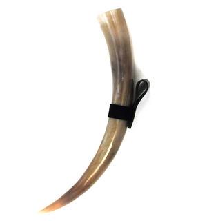 "Drinking Horn - XL Bull Horn with Holster - 22"" / 56cm Thumbnail 1"