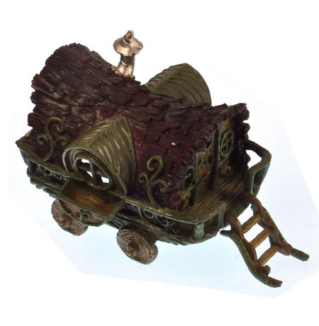 Gypsy Wagon Fairy Home - Fiddlehead Fairy Garden Collection