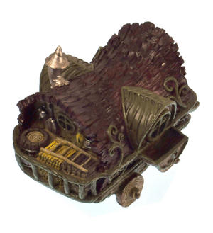 Gypsy Wagon Fairy Home - Fiddlehead Fairy Garden Collection Thumbnail 2