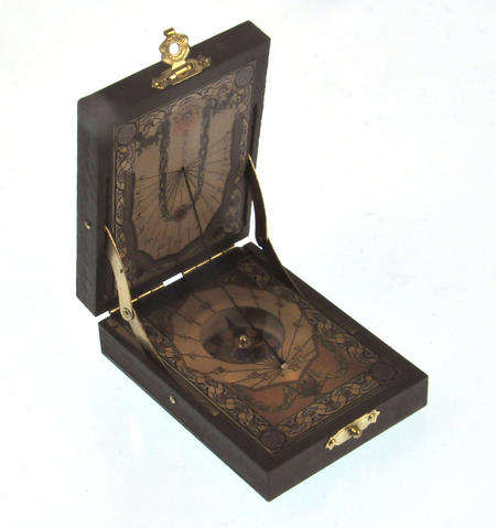 Pocket Sundial Compass Antique Scientific Instrument