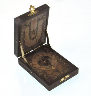 Pocket Sundial Compass Antique Scientific Instrument Thumbnail 1