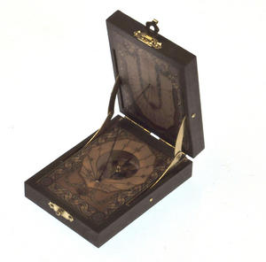 Pocket Sundial Compass Antique Scientific Instrument Thumbnail 4