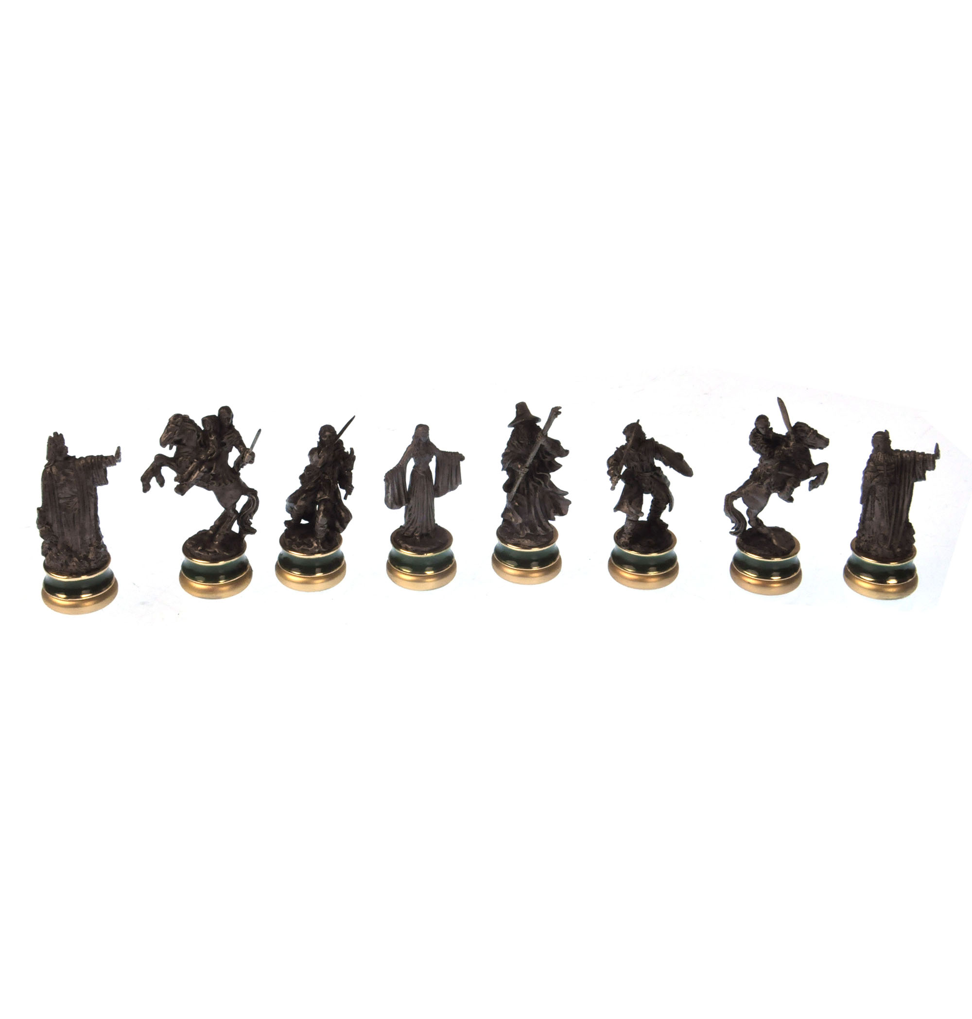 Lord Of The Rings Chess Set Two Tier Glass And Contoured