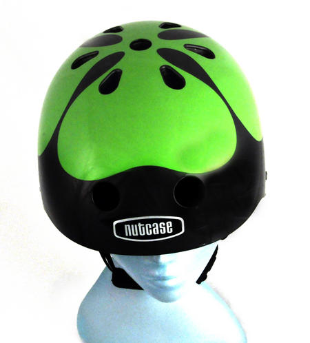 Got Luck ? Black Pearl Four Leaf Clover - Child Nutcase Street Sport Helmet for Bicycle, Board or Blade