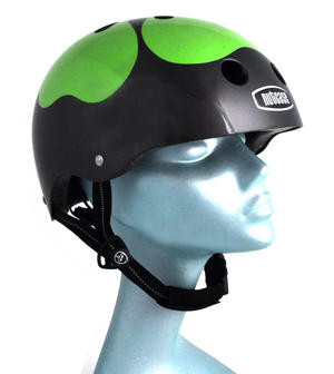 Got Luck ? Black Pearl Four Leaf Clover - Child Nutcase Street Sport Helmet for Bicycle, Board or Blade Thumbnail 3