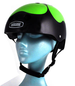 Got Luck ? Black Pearl Four Leaf Clover - Child Nutcase Street Sport Helmet for Bicycle, Board or Blade Thumbnail 4