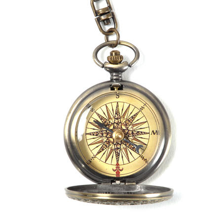 Pocket Gothic Compass Rose Antique Scientific Instrument