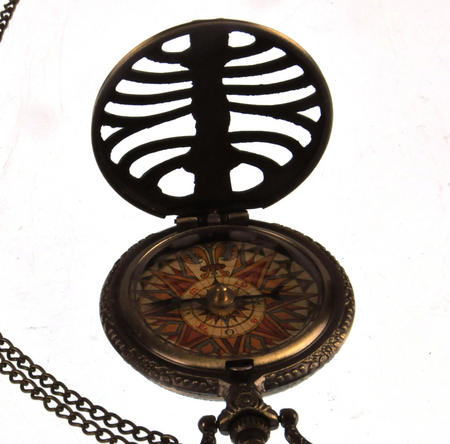 Pocket Skeleton Compass Antique Scientific Instrument