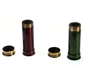 12 Gauge Cartridge Salt & Pepper Cruet - Green & Red Thumbnail 3