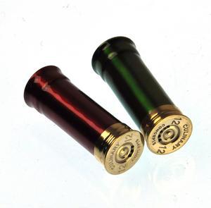 12 Gauge Cartridge Salt & Pepper Cruet - Green & Red Thumbnail 5