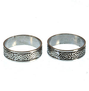Celtic Knotwork Solid Pewter Napkin / Serviette Rings Thumbnail 3