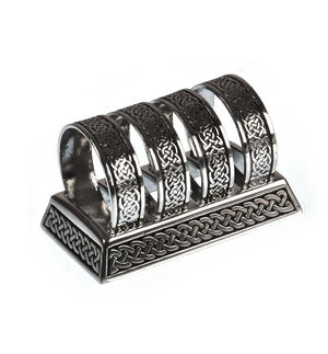 Celtic Knotwork Solid Pewter Napkin / Serviette Rings Thumbnail 6