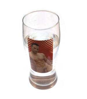 Man Stripper Beer Glass - Cold Drink Condensation Striptease (Fully Nude!) - Random Designs Thumbnail 4