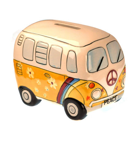 Hand-Painted Volkswagen Camper Van Money Box