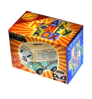 Hand-Painted Volkswagen Camper Van Money Box Thumbnail 2