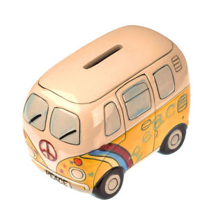 Hand-Painted Volkswagen Camper Van Money Box Thumbnail 3