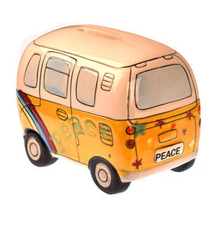 Hand-Painted Volkswagen Camper Van Money Box Thumbnail 4