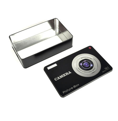 Smile! Camera Picture Box Keepsake Metal Tin