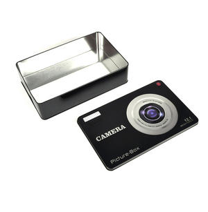 Smile! Camera Picture Box Keepsake Metal Tin Thumbnail 1
