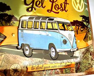 Let's Get Lost VW Camper Metal Sign - Classic Volkswagen Camper Van Thumbnail 4