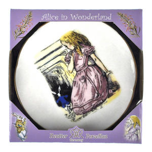 Alice and The White Rabbit - Alice in Wonderland Porcelain Wall Plate Thumbnail 3