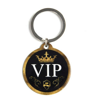 VIP Circular Metal Key Ring