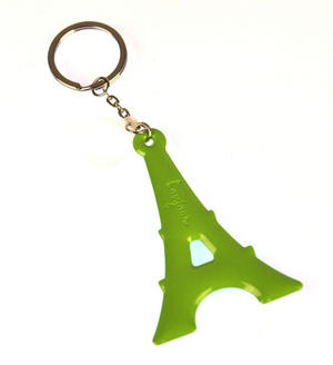 Green Eiffel Tower Key Doll - Key Holder / Key Ring