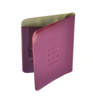Dep-art-ure Violet PVC Passport Holder - Global Citizen by Alife Design Thumbnail 3