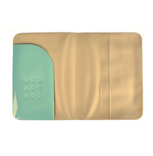 Dep-art-ure Blue PVC Passport Holder - Global Citizen by Alife Design Thumbnail 2