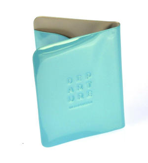 Dep-art-ure Blue PVC Passport Holder - Global Citizen by Alife Design Thumbnail 3