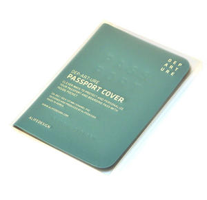 Dep-art-ure Blue PVC Passport Holder - Global Citizen by Alife Design Thumbnail 4
