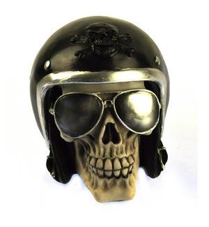 "The Enforcer - Motorcyclist Skull 16cm / 6"" Thumbnail 1"