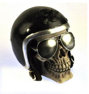"The Enforcer - Motorcyclist Skull 16cm / 6"" Thumbnail 3"