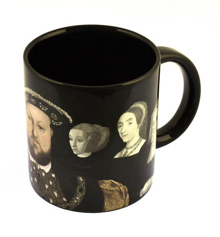 Henry VIII and His Disappearing Wives Heat Change Mug