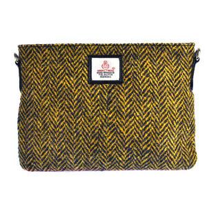 Yellow Herringbone Harris Tweed Small Bag