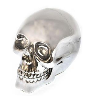 """Chrome Skull 10cm / 4"""" Thumbnail 1"""