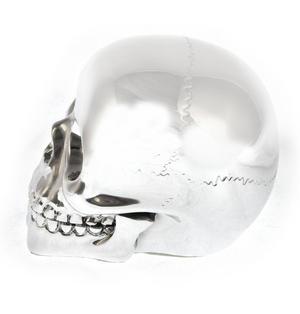"""Chrome Skull 10cm / 4"""" Thumbnail 2"""
