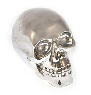 """Chrome Skull 10cm / 4"""" Thumbnail 3"""