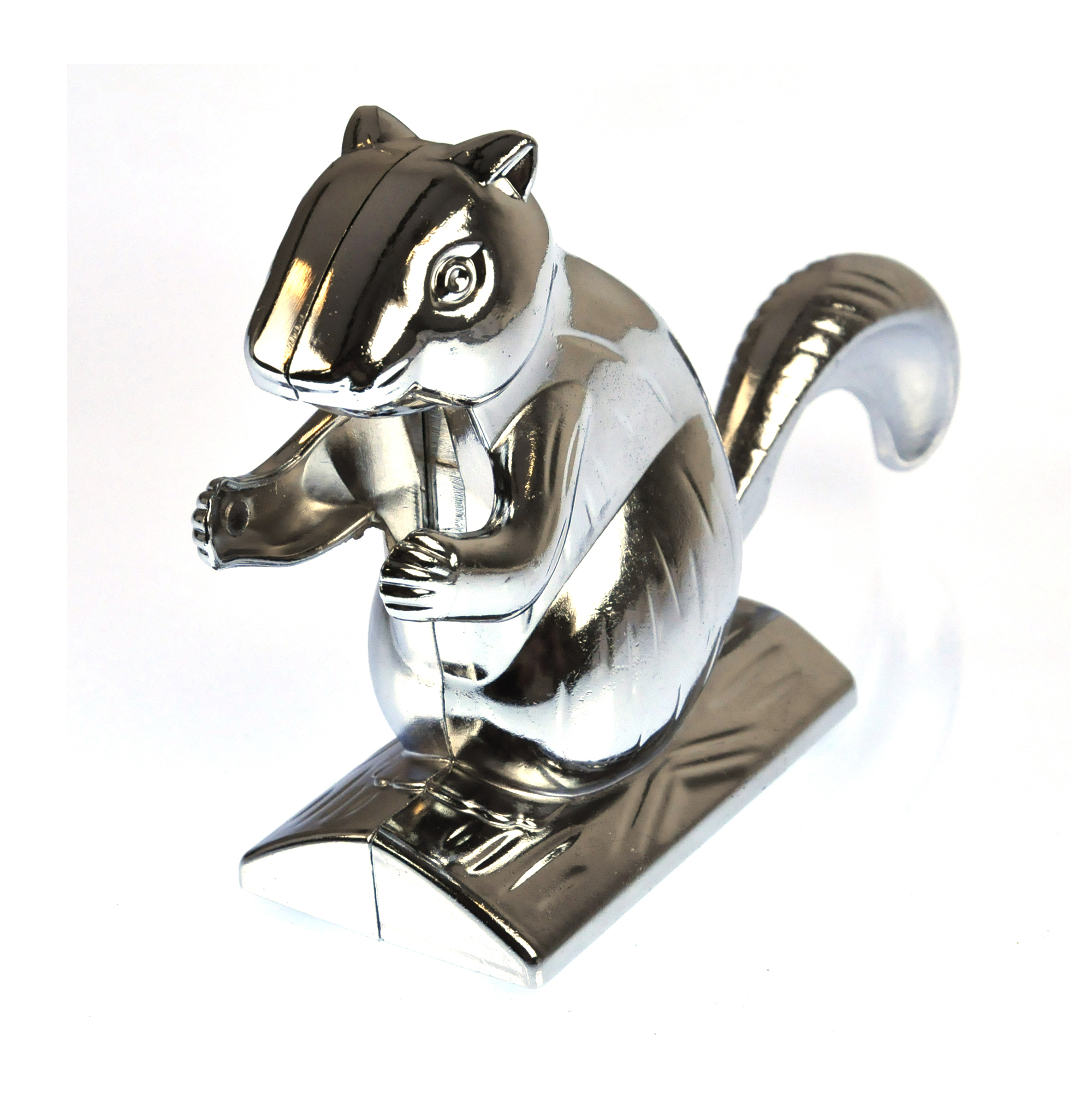 Nut cracker squirrel in chromed metal ebay - Squirrel nut crackers ...