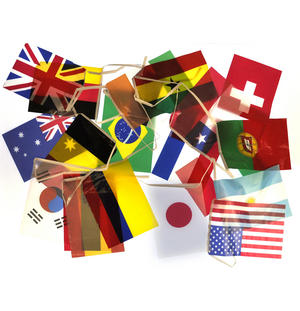 International Flags Bunting Garland Thumbnail 4