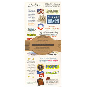 Barack Obama Quotable Notable - Greeting Card With Sticker Quotes Thumbnail 2