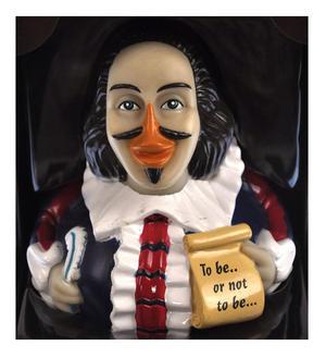 Shakespeare Rubber Duck - Celebriduck Thumbnail 1