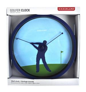 Golfer Wall Clock Thumbnail 2