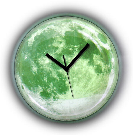 Clair de lune Moonlight Wall Clock - Glow in the Dark