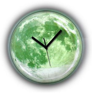 Clair de lune Moonlight Wall Clock - Glow in the Dark Thumbnail 1