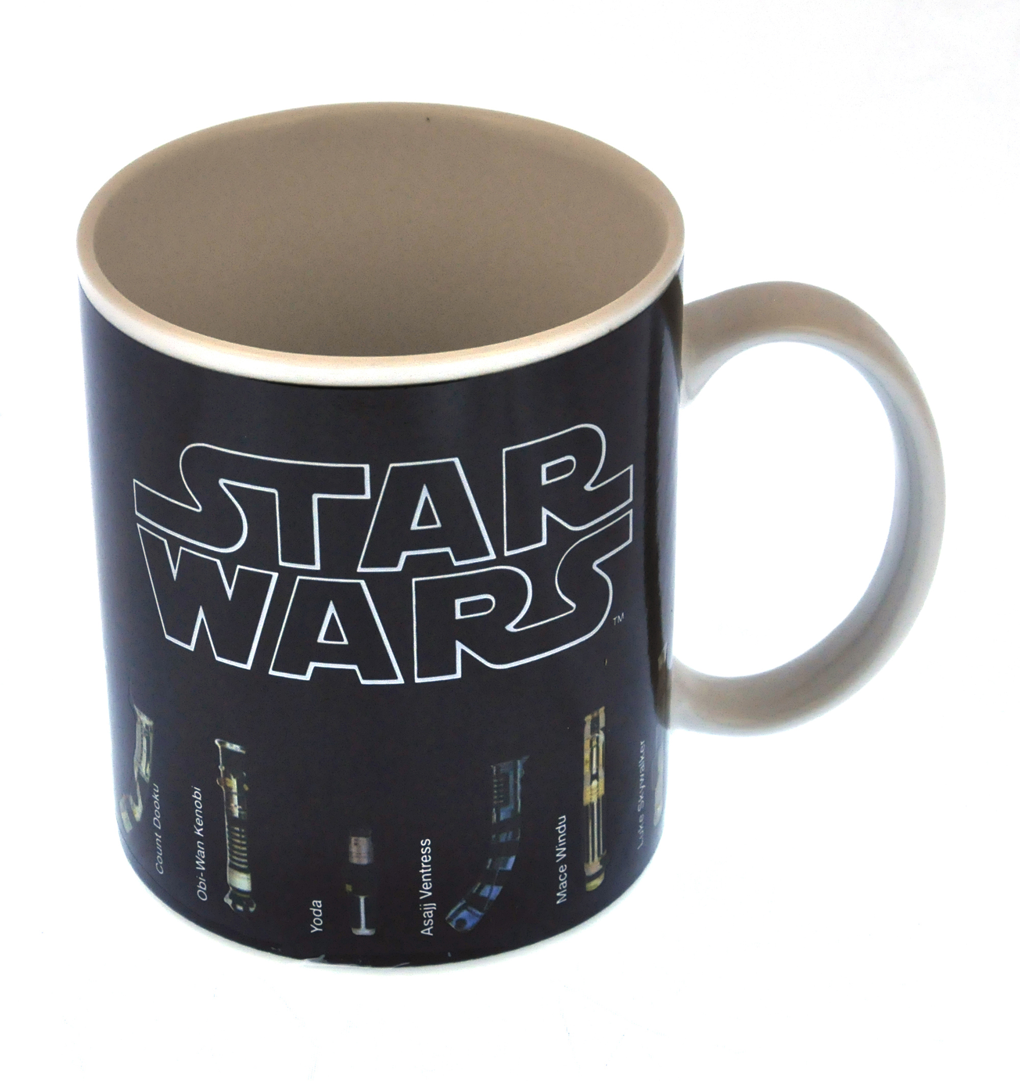 star wars light sabre heat change mug pink cat shop. Black Bedroom Furniture Sets. Home Design Ideas