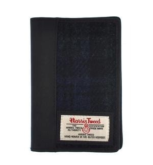 Blackwatch Harris Tweed Passport Wallet
