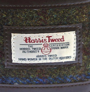 Red / Green Harris Tweed Hip Flask Thumbnail 2